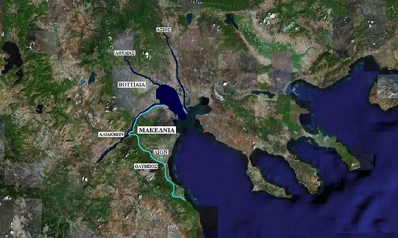 Χάρτης της αρχαίας μακεδνίας επί